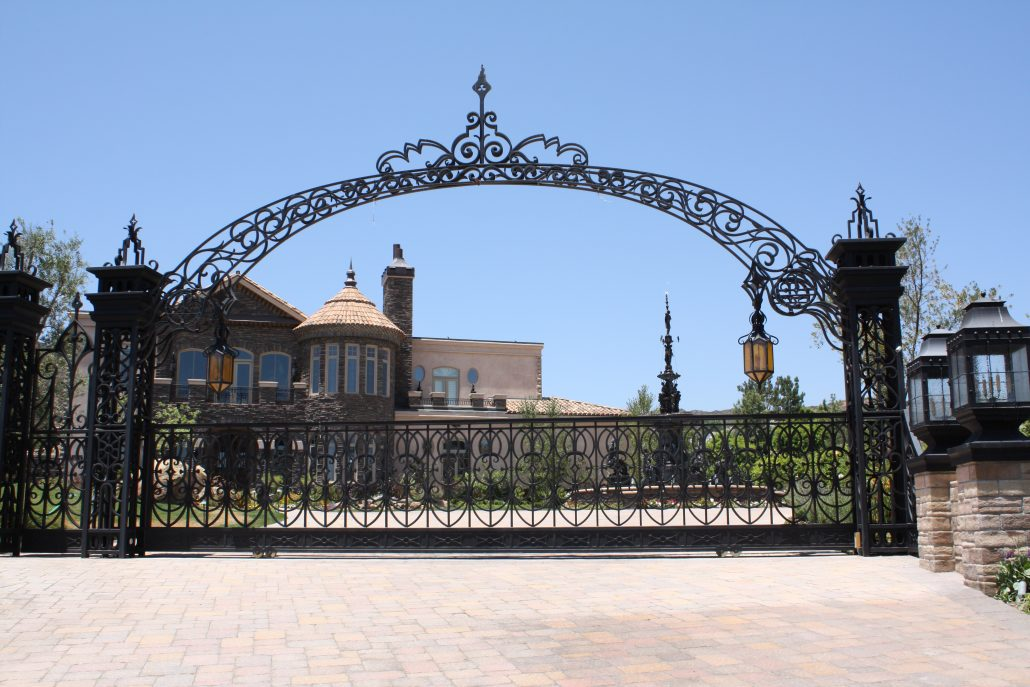custom wrought iron gate image