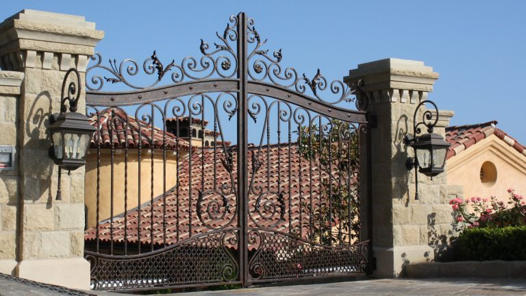 A custom wrought iron gate