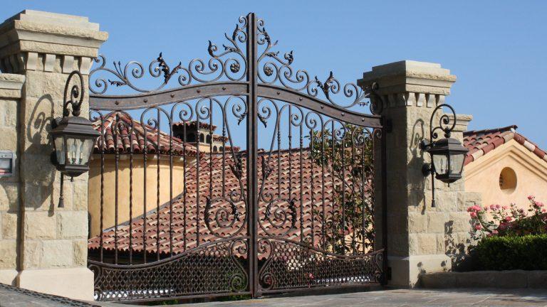 A custom wrought iron gate