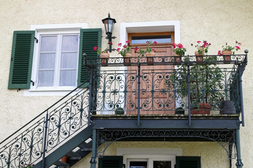 Wrought Iron Railings on balcony